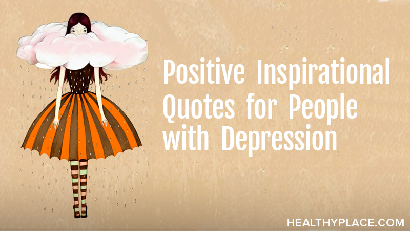 positive inspirational quotes for people depression