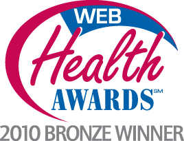 2010 Web Health Award for Best Health Blog - Bronze Winner