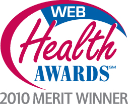 2010 Web Health Awards - Best Health Website - Merit Winner