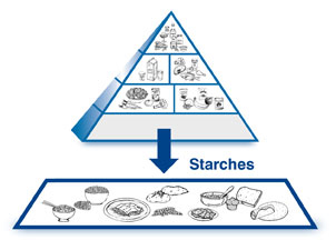 Starches Pyramid