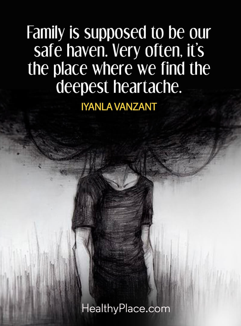 Quote on abuse - Family is supposed to be our safe haven. Very often, it's the place where we find the deepest heartache.