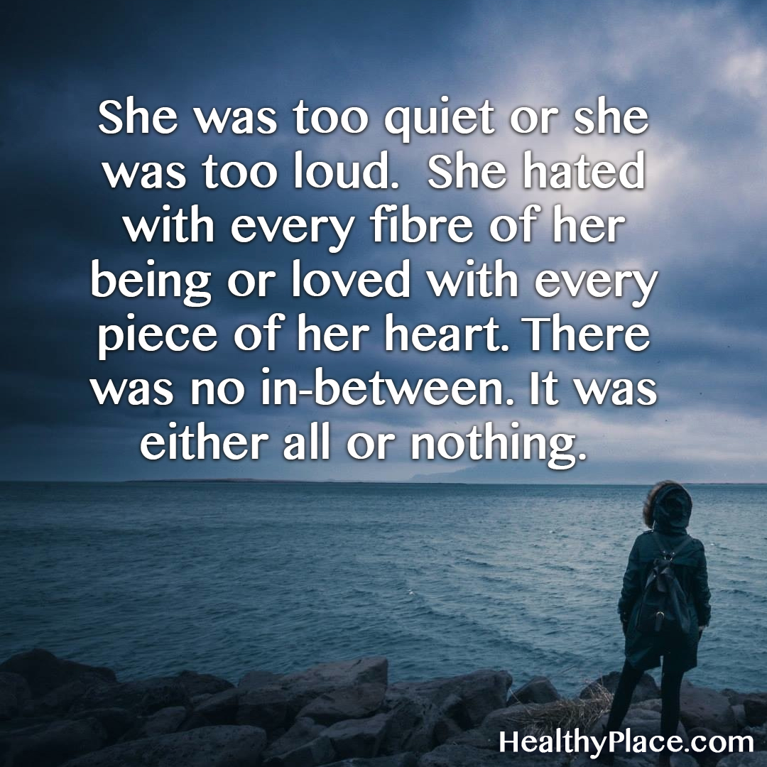 Love A Woman For Her Personality: Borderline Personality Disorder Quotes