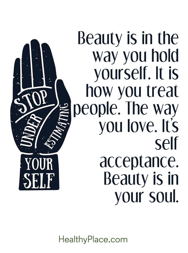 Eating disorders quote - Beauty is in the way you hold yourself. It is how you treat people. The way you love. It's self acceptance. Beauty is in your soul.