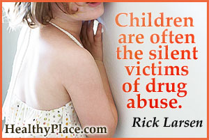 Addiction quote on effects of drug abuse - Children are often the silent victims of drug abuse.