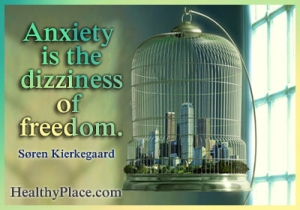Quote on anxiety by Soren Kierkegaard - Anxiety is the dizziness of freedom.