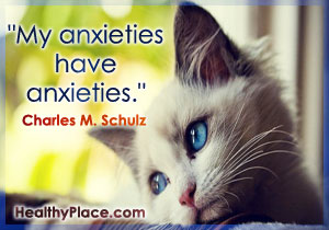 Quote on anxiety by Charles M. Schulz - My Anxieties Have Anxieties.