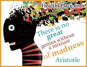 Bipolar quote by Aristotle - There is no great genius without some touch of madness.