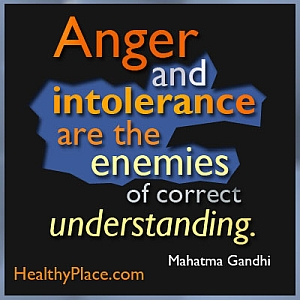 Stigma quote by Mahatma Gandhi - Anger and intolerance are the enemies of correct understanding.