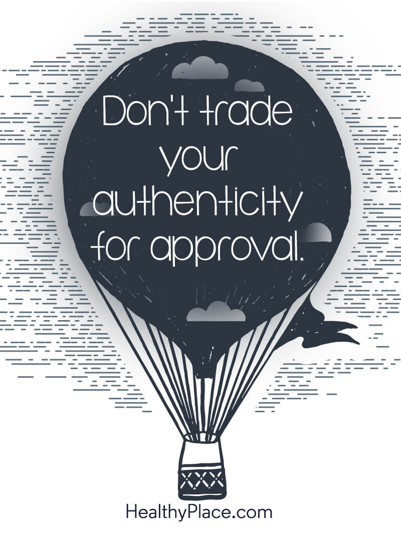 elf-help quote - Don't trade your authenticity for approval.