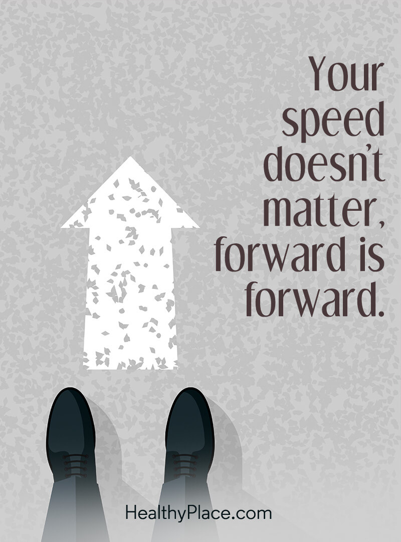 Quote about self-help - Your speed don't matter, forward is forward.