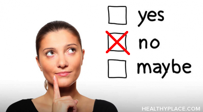Learning to say no can be difficult. But doing so more often can be an effective way of gaining self-respect. Learn why at HealthyPlace.