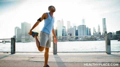 Exercising outside is good for schizoaffective disorder, but it's stressful when others don't practice social distancing. Read more at HealthyPlace.