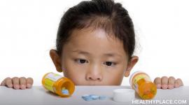 Descriptions of psychiatric medications for treating child and adolescent psychiatric disorders; including benefits and side-effects.