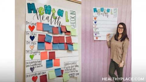 How do you teach kids about mental health in the classroom? It's as simple as putting up a mental health check-in chart. Read more on HealthyPlace.