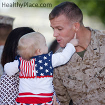 Children of veterans with combat PTSD can suffer PTSD symptoms too. Here are some parenting tips on how to help the children of parent veterans.