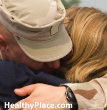 The spouses of veterans with combat PTSD can experience PTSD in their own right because of their partner's symptoms. Learn about secondary traumatic stress.