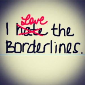 People hesitate to call themselves borderline because of stigma but I say we should say we are borderline and reclaim the word borderline to reduce stigma.