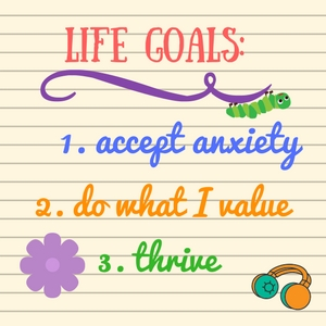 Making life goals that accept anxiety help you transcend it. Anxiety may not vanish, but you can live the life of your dreams. Learn how to plan it. Read this.