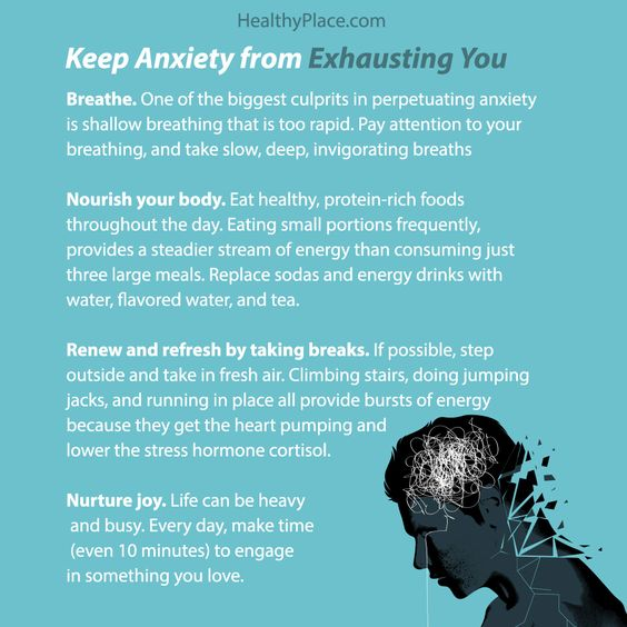 How to keep anxiety from exhausting you. Poster to share.