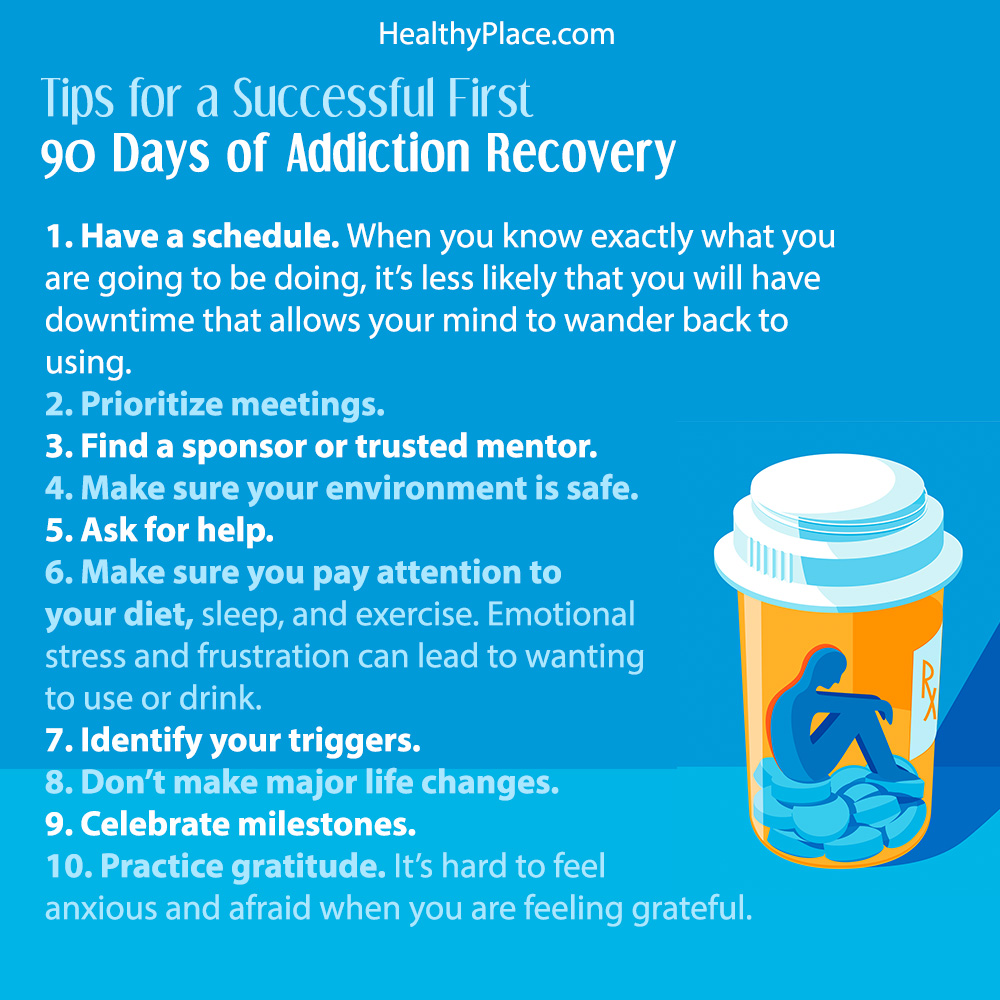 The first 90 days of addiction recovery are the ripest for relapse. These tips will help you find success in the first 90 days in addiction recovery.