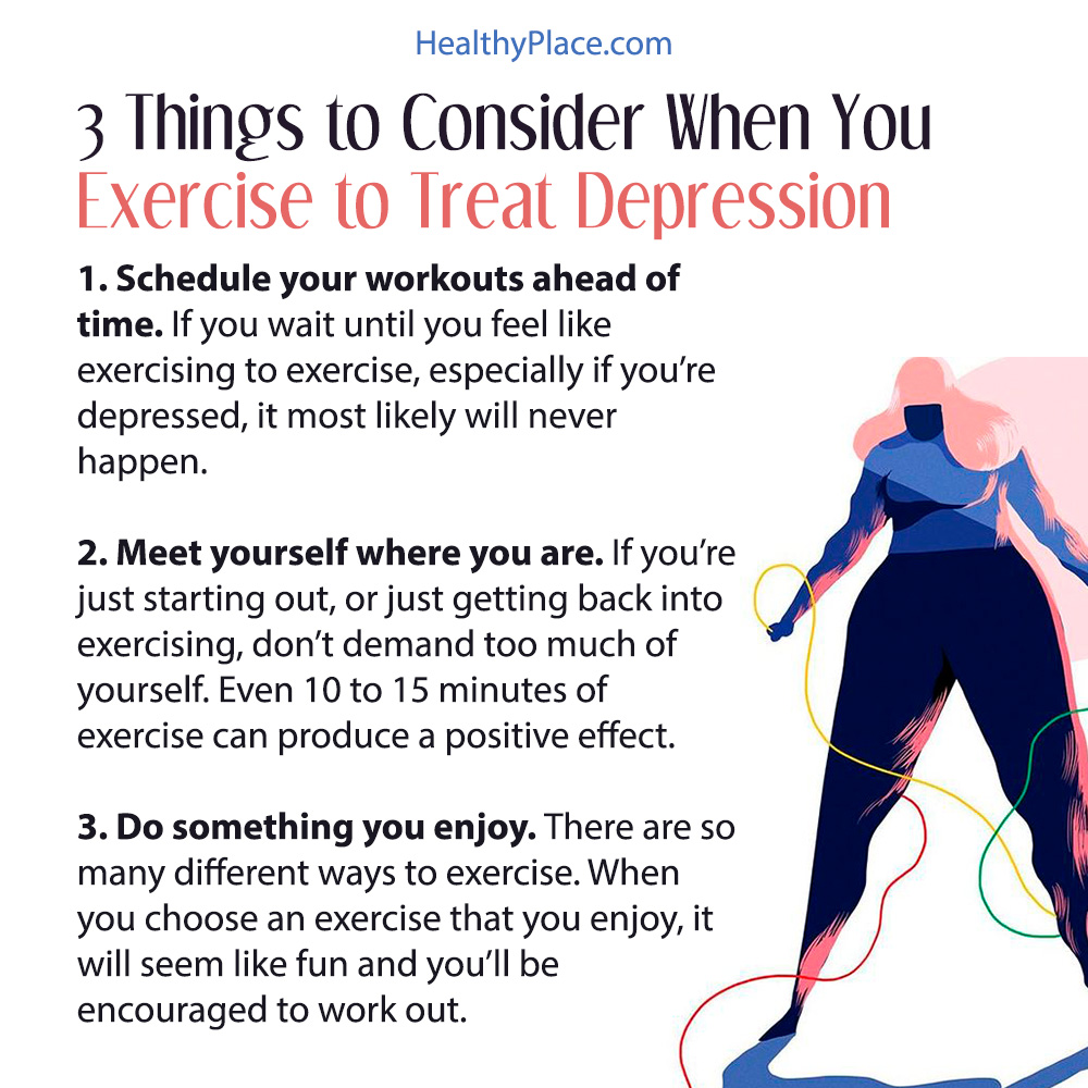 How to Exercise to Help Treat Depression | HealthyPlace